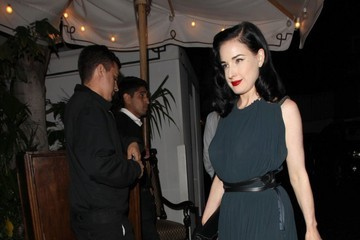 Dita Von Teese Celebrities Enjoy a Night out at Chateau Marmont
