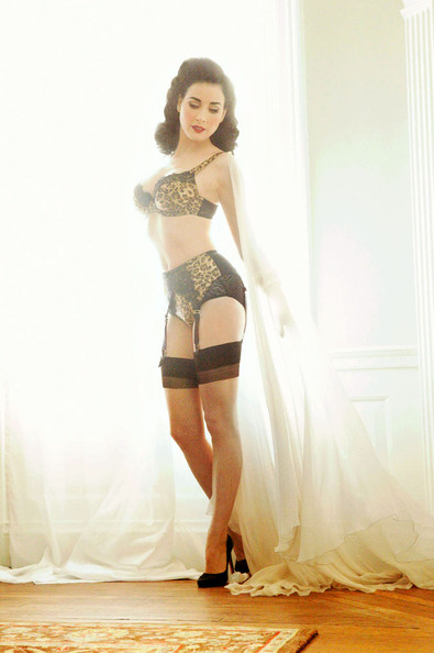 dita von teese presents her von follies lingerie collection zimbio. Black Bedroom Furniture Sets. Home Design Ideas