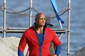 Dwayne Johnson Stars Perform on the Set of 'Baywatch'