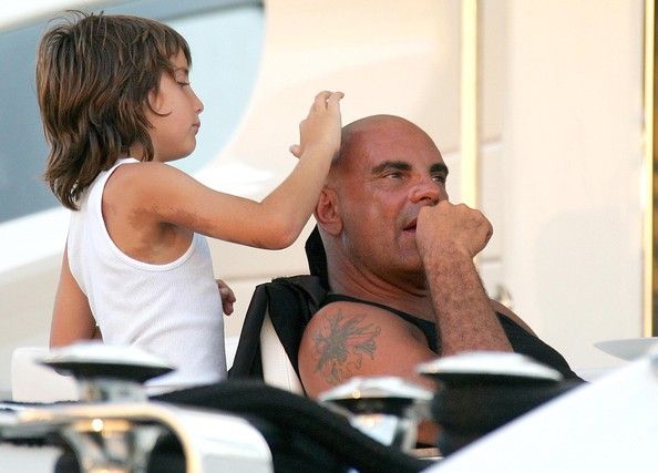 Christian Audigier And Family In St. Tropez