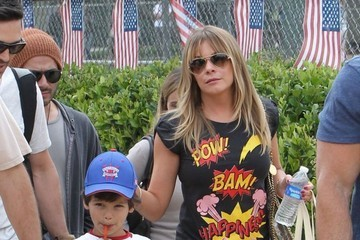 Eddie Cibrian LeAnn & Eddie At His Sons Baseball Game