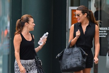Edith Sarfati Lea Michele Out Shopping With Her Mom In New York City