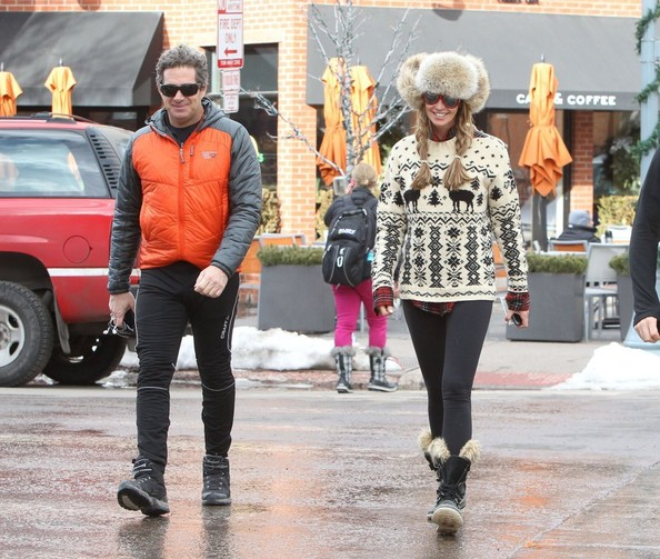 Elle Macpherson and Jeffrey Soffer Bundle Up