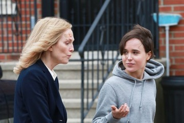 Ellen Page Stars Film 'Freeheld' in NYC