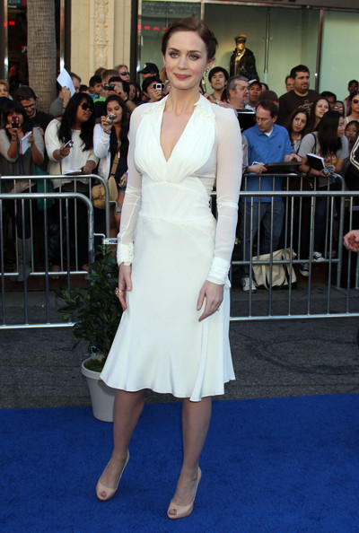 Emily Blunt Celebrities at the 'Gnomeo & Juliet' premiere at the El Capitan Theatre in Hollywood, CA.