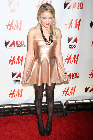 Emily Osment Celebrities at Z100's Jingle Ball 2010 presented by H&M at Madison Square Garden in New York City, NY.