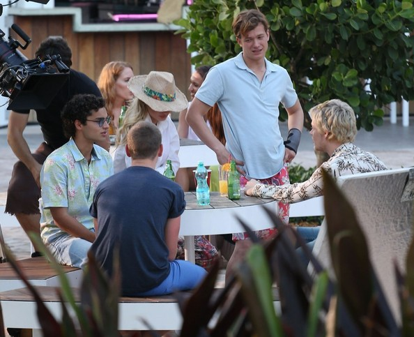 Stars On The Set Of 'Plastic' In Miami