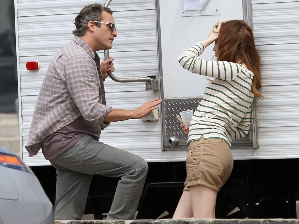Emma Stone and Joaquin Phoenix on Set - Zimbio Emma Stone And Ryan Gosling