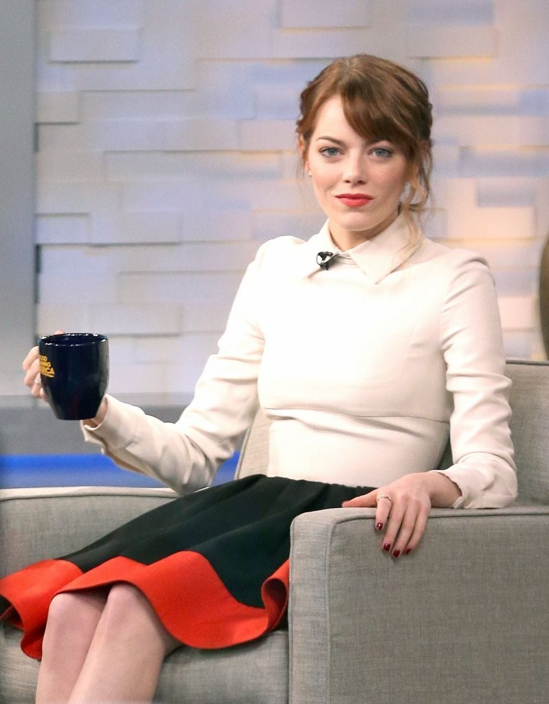 Good Morning America How Are You Chords : Emma stone photos celebs drop by good morning