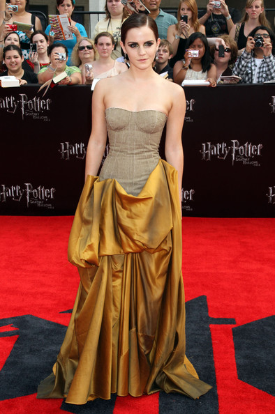 Emma Watson Harry Potter And The Deathly Hallows Part 2 Premiere Dress  Harry Potter And The Deathly