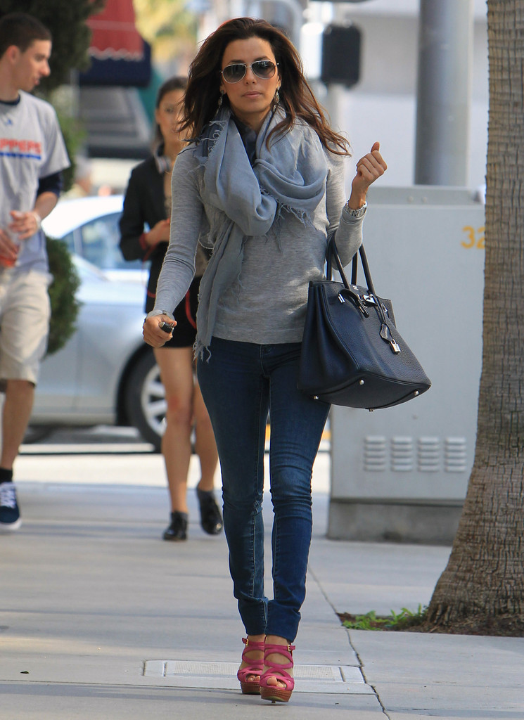 Actress Eva Longoria was out and about in Beverly Hills, California on March 15, 2012.  She stopped by the Brighton Coffee shop for a bite to eat before heading on her way.