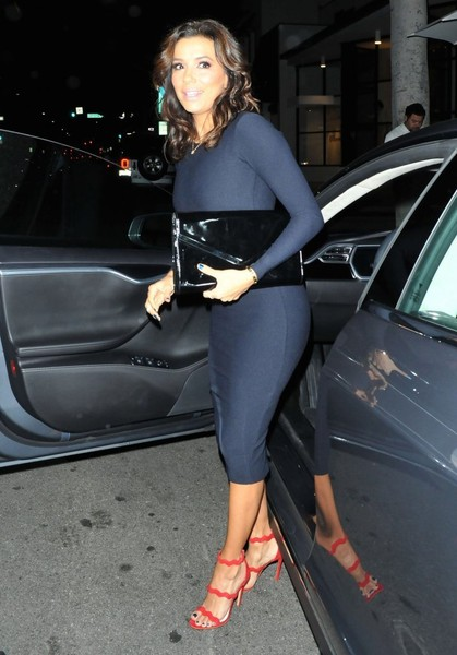 Actress Eva Longoria spotted out for dinner at Mr. Chow in Beverly Hills, California on January 29, 2015. Eva's new comedy 'Telenovela' is almost finished with it's casting and she can't wait to start producing episodes.