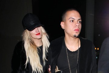 Evan Ross Celebrities Enjoy A Night Out At Warwick Nightclub
