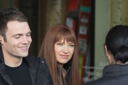 "Actors Seth Gabel and Anna Torv are seen on the set of ""Fringe"" in Vancouver, Canada."