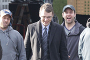 Actor Seth Gabel is all smiles as he is seen walking on the set of 'Fringe' in Vancouver, Canada. Seth has been excited about all the praise his character has gotten but he was afraid he would take away some of the limelight from Joshua Jackson.