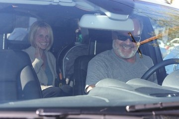 Faith Grammer Kelsey Grammer And Family Leaving The Andy Lecompte Salon