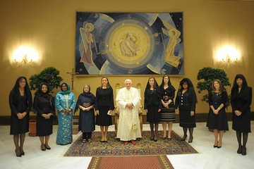 Margarida Sousa Uva First Ladies Visiting Pope At Vatican