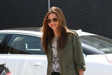 Flynn Bloom Miranda Kerr Heads to a Meeting