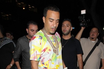 French Montana Celebrities Enjoy a Night out in Los Angeles
