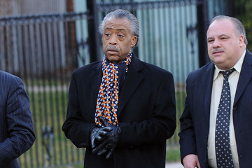 Reverend Al Sharpton Friends And Family Attending Whitney Houston's Funeral
