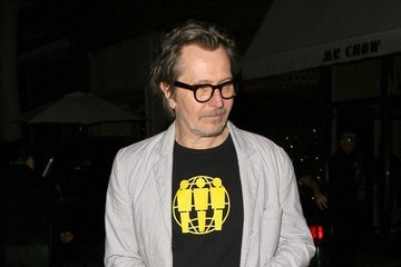 Gary Oldman Celebs Dine Out at Mr Chow