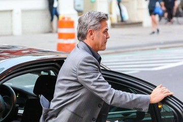 George Clooney George Clooney Attends a Showing of 'Hamilton'