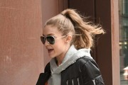 Gigi Hadid Arrives At Her NYC Hotel