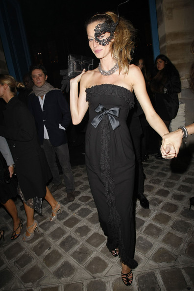 Gisele Bundchen attending the Vogue 90th Anniversary Party during the Paris Fashion Week Spring/Summer 2011.