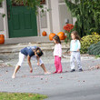 Leah Gosselin Gosselin Children Playing Outside With Their Nanny