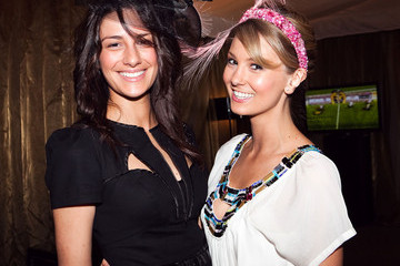 Heidi Valkenburg Guests Attending The Age Caulfield Cup Guineas Day In Melbourne