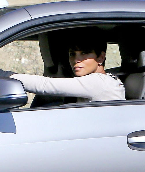 Halle Berry Films 'Extant' in LA