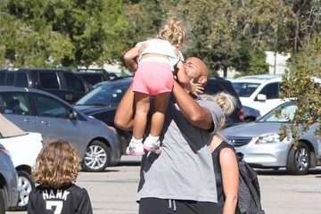 Hank Baskett Kendra Wilkinson and Her Family Attend Her Son's Soccer Game