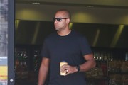 Hank Baskett Stops to Fill Up His Jeep