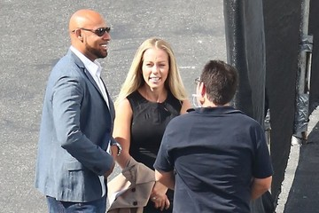Hank Baskett Celebs at the 'Dancing With The Stars' Studio