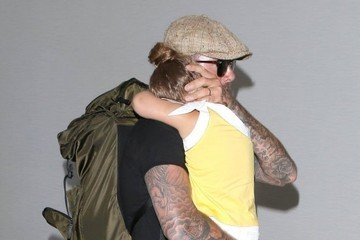 Harper Beckham The Beckham Family Departing On A Flight At LAX