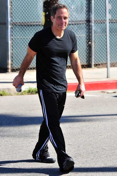 TMZ managing  editor Harvey Levin seen leaving the gym with a  protein drink in Venice,  CA.