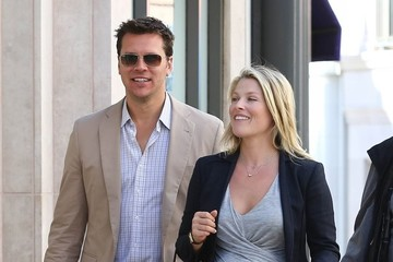 Hayes MacArthur Ali Larter and Hayes MacArthur Get Lunch