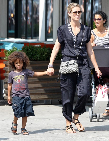 Heidi Klum And Family Out For A Walk