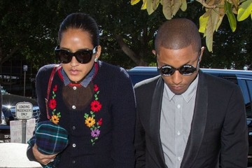 Helen Lasichanh Robin Thicke & Pharrell Williams At Their 'Blurred Lines' Trial