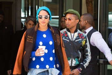 Helen Lasichanh Pharrell Williams and Helen Lasichanh Step Out in New York