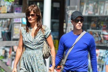 Helena Christensen Helena Christensen & Paul Banks Holding Hands In New York