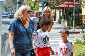 Henry Samuel Heidi Klum Takes Her Kids Out For Lunch In Brentwood