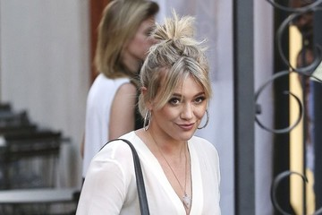 Hilary Duff Hilary Duff Gets Her Hair Done in West Hollywood