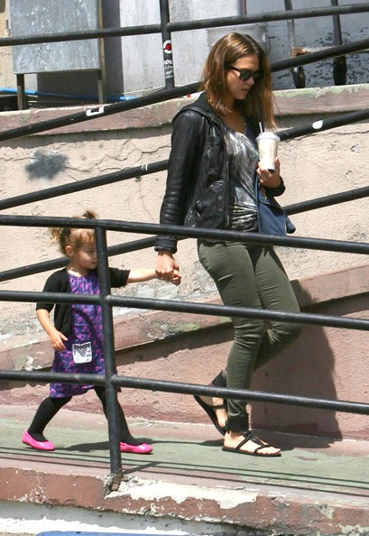 Jessica Alba And Daughter Honor Out For Breakfast In West Hollywood