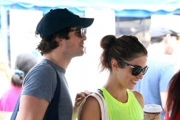 Ian Somerhalder Nikki Reed & Ian Somerhalder Visit The Farmer's Market
