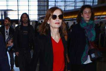 Isabelle Huppert Isabelle Huppert Departs on a Flight at LAX