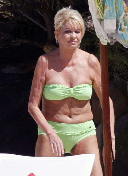 Ivana Trump Photos Photos - Ivana Trump Shows Her Age In Green Bikini ...