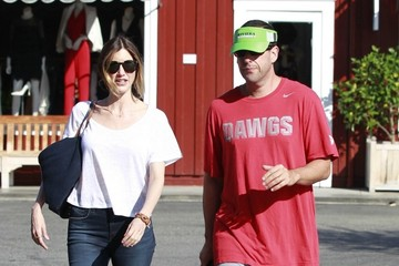 Jackie Sandler Adam & Jackie Sandler Enjoy Breakfast in Brentwood