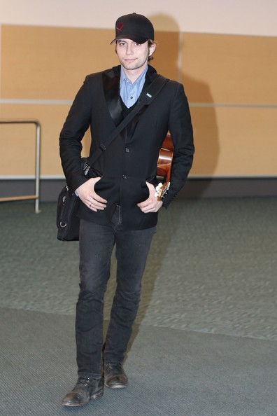 "Actor Jackson Rathbone arrives at Vancouver airport on a flight from Los Angeles. The ""Twilight"" star took a separate flight than Ashley Greene, who are rumored to be a couple."