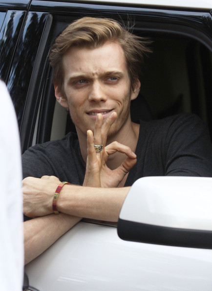 Jake Abel Exclusive.... Actor Jake Abel seen signing autographs for fans after filming his scenes on the set of 'Percy Jackson: Sea Of Monsters' in Vancouver, Canada on May 15, 2012